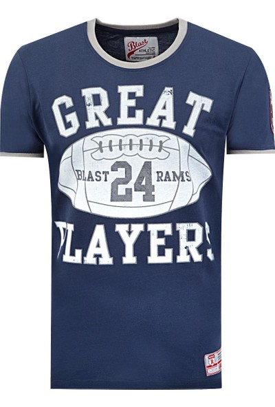 Blast Erkek T-Shirt Lacivert Renk