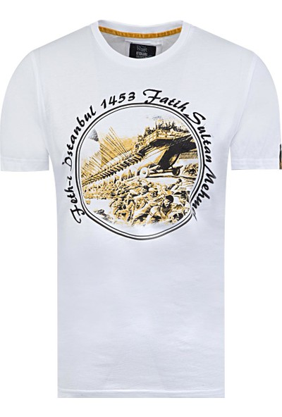 Blast Erkek T-Shirt Beyaz Renk