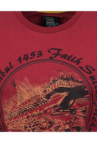 Blast Erkek T-Shirt Bordo Renk