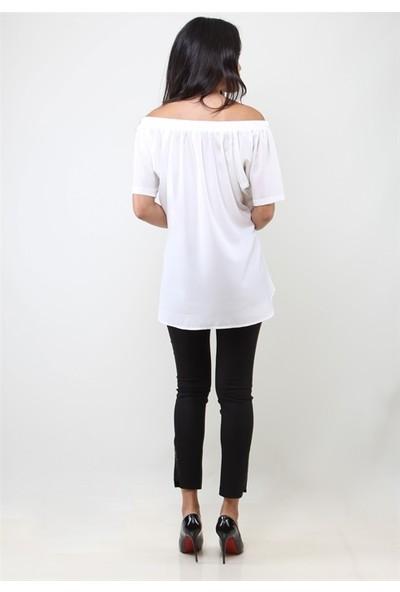 Dodona 3047 Beyaz Tunik