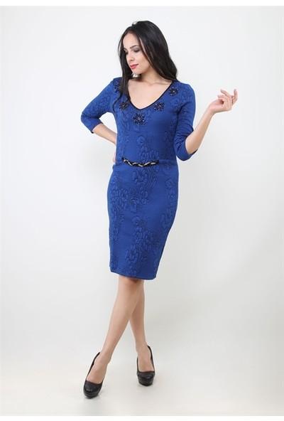 Dodona 2192 Aksesuarlı Ve Taşlı Tasarım Elbise