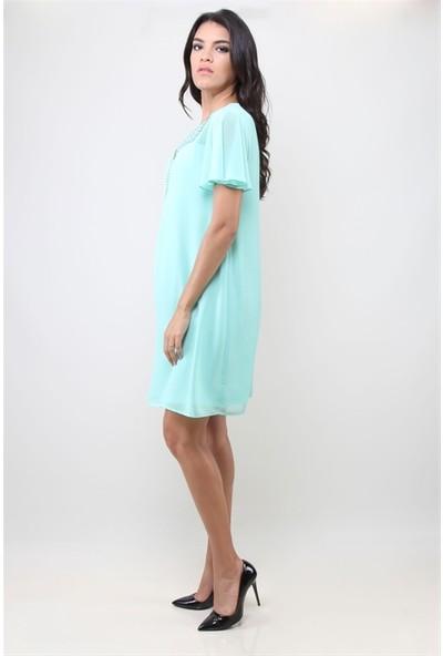 Dodona 3109 Yeşil Elbise