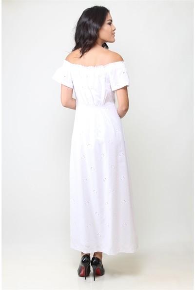 Dodona 3267 Beyaz Elbise