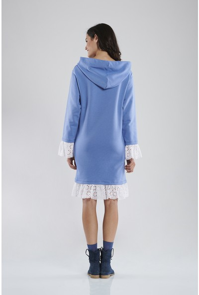 Lyn Devon Kay Sweat Elbise Mavi