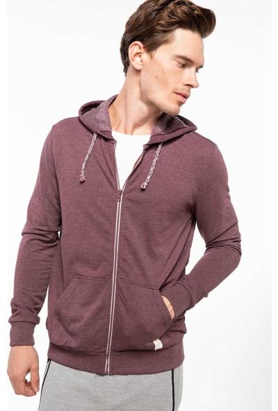 Defacto G0175Az18 Basic Kapşonlu Sweatshirt Hırka