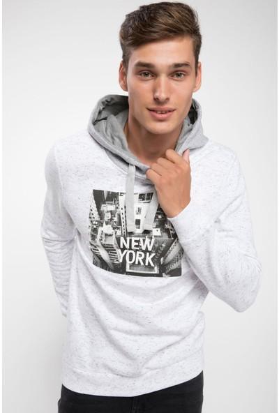 Defacto J1669Az18 New York Baskılı Kapşonlu Sweatshirt