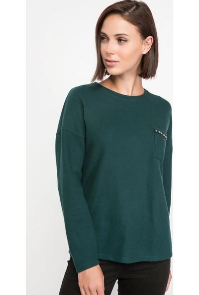 Defacto J4040Az18 Taş İşleme Detaylı Uzun Kollu T-Shirt