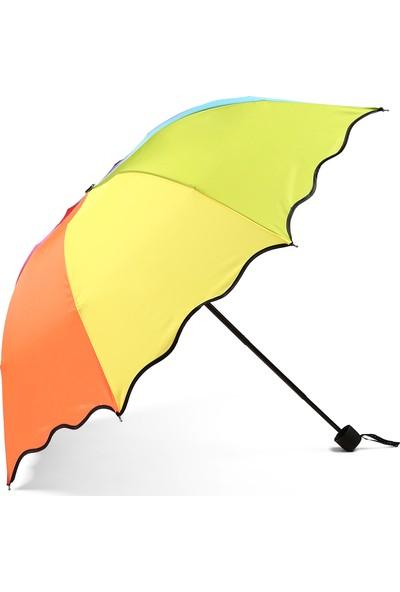 Almera Konsept Gökkuşağı Renkli Kadın Şemsiye