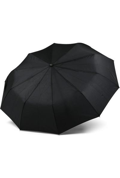 Almera Tam Otomatik Katlanır Erkek Şemsiye - Siyah