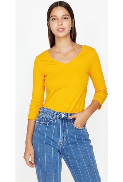 Koton Kadın Uzun Kollu T-Shirt