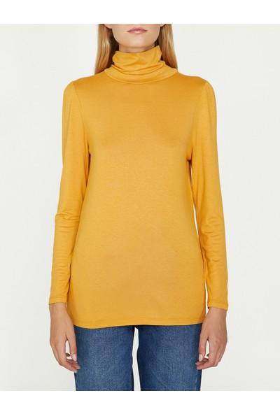 Koton Kadın Boğazlı T-Shirt