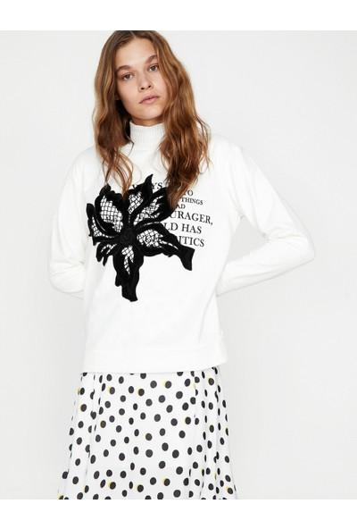 Koton Kadın Aplike Detaylı Sweatshirt