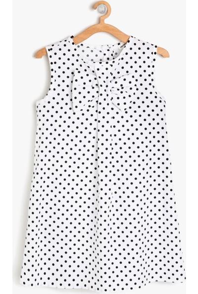 Koton Kız Çocuk Fiyonk Detaylı Elbise