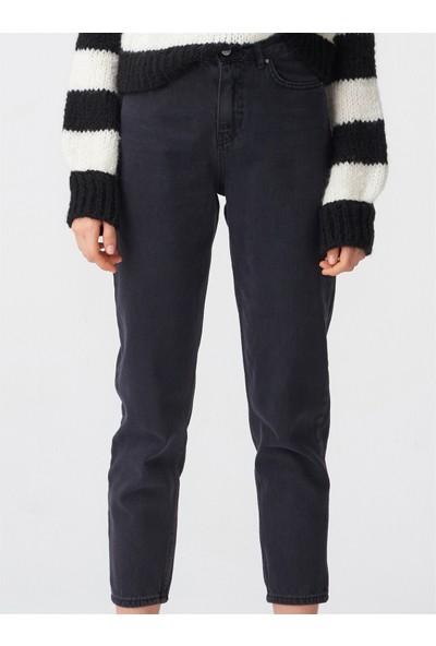 Dilvin 7582 Siyah Mom Pantolon Siyah