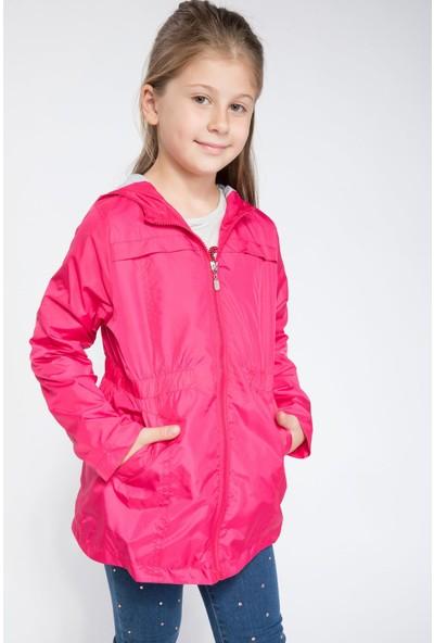 Defacto Kız Çocuk Belden Lastikli Yağmurluk