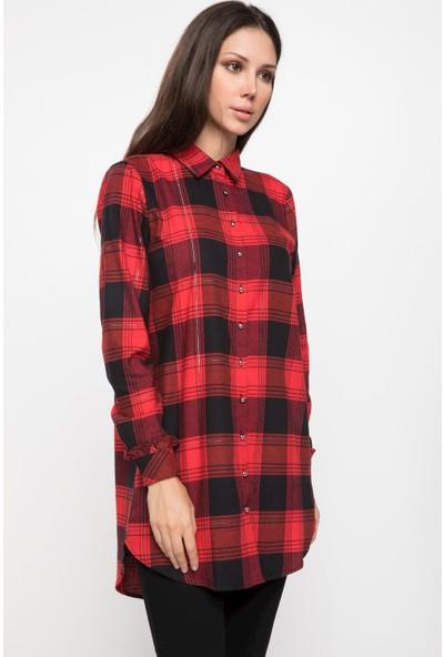 Defacto Kadın Ekose Gömlek Tunik