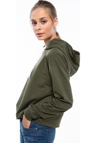 Defacto Kadın Kapşonlu Sweatshirt