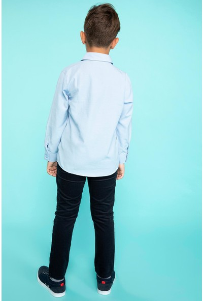 Defacto Erkek Çocuk Slim Fit Kadife Pantolon