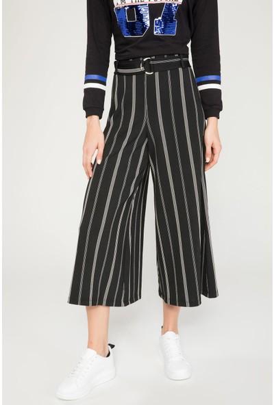 Defacto Kadın Çizgili Culotte Pantolon