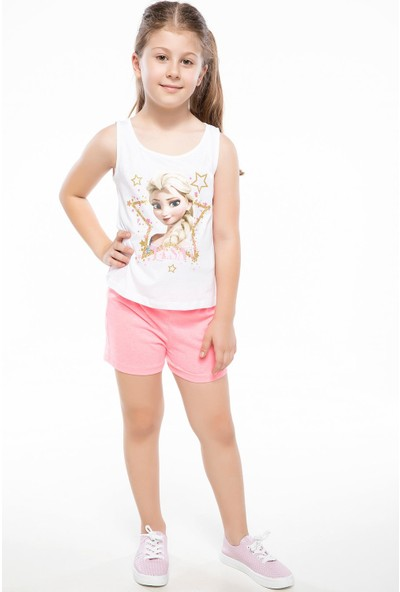 Defacto Kız Çocuk Elastik Bel Detaylı Şort