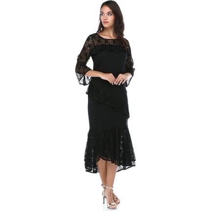 def02c676 B&S Line Kadın Siyah Dantelli Elbise Fiyatı - Taksit Seçenekleri