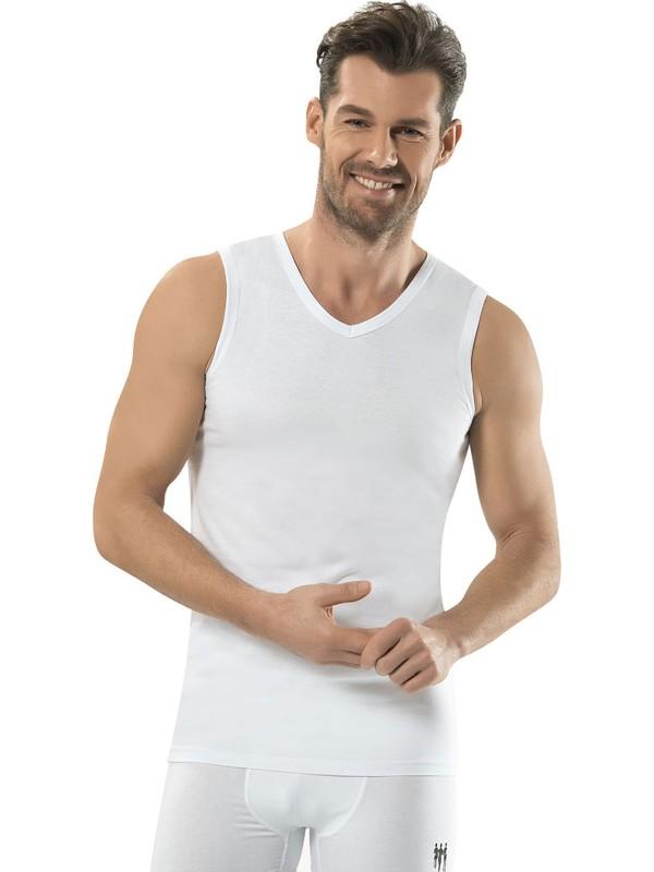 Jiber Erkek V Yaka Sıfır Kol Atlet - 123