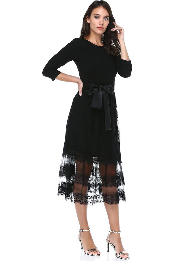 B&S Line Women's Chiffon Details Dress