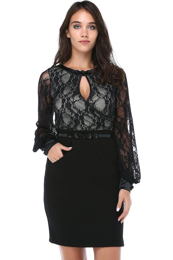 B&S Line Lace Details Women's Dress
