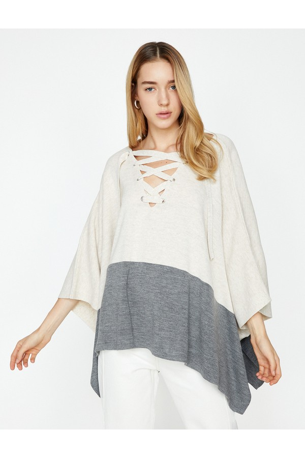 Koton Striped Sweater Woman