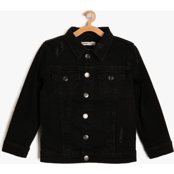 Koton Erkek çocuk Klasik Yaka Jean Ceket 4 5 Yaş Siyah