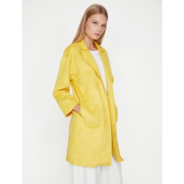 0a34d60b3a897 Koton Kadın Cep Detaylı Trençkot - 40 - Sarı Ürün Resmi. Akakçe'de 1 fiyat  ...