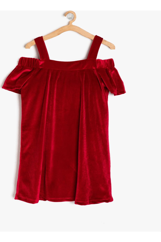 Koton Girls Velvet Dress