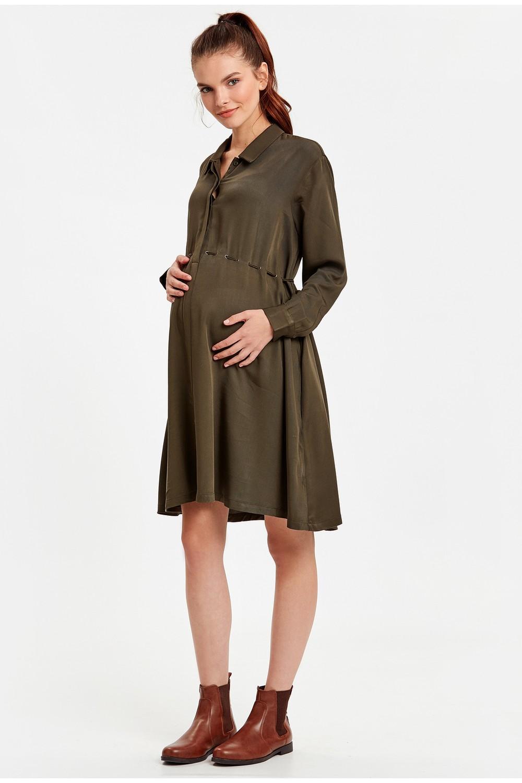 LC Waikiki Pregnant Women's Solid Dress