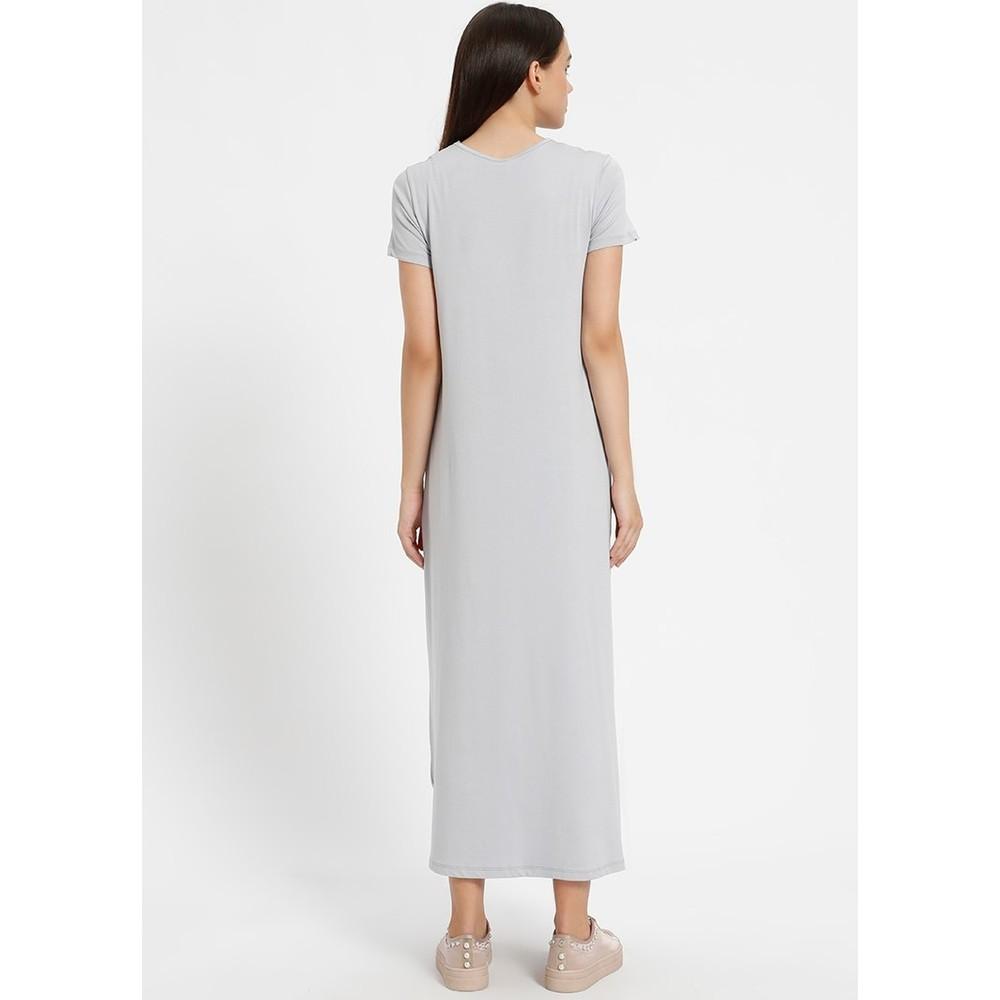 622c0cd5ab0f6 Everyday Basic 135 cm Doğal Kumaştan Kısa Kollu Elbise - Fiyatı