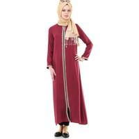 İhvan 5009-3 Fermuarlı Bordo Namaz Elbisesi