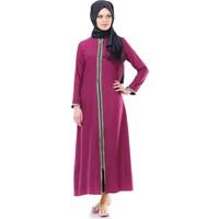 İhvan 5009-4 Fermuarlı Fuşya Namaz Elbisesi