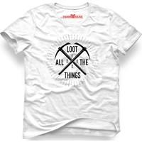 Tshirthane Fortnite Battle Royale - Loot All The Things Beyaz Erkek T-Shirt