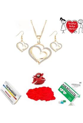 Soufeel Sevgiliye Hediye Kalpli Takı Seti 365 Gün Aşk Sözleri Aşkbiyotik Çok Seviyorum Kapsülü