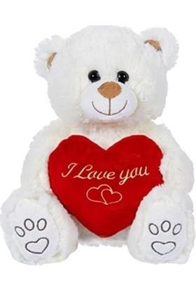 Soufeel Sevgiliye Love You Kalp Figürlü 28 Cm Sevimli Peluş Ayıcık Hediye
