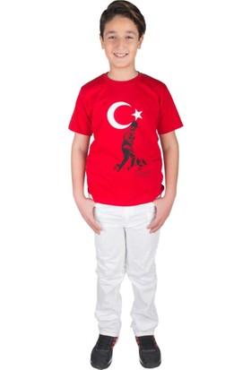 ModaKids Bayrak Atatürk Baskılı Tshirt 019-1930-002