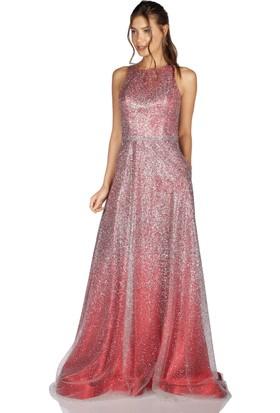 d251bc9769e38 Pierre Cardin Kırmızı Sırt Dekolteli Prenses Abiye Elbise ...