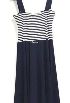 Dodona 1813 Zircon Taşlı Askılı Şık Elbise