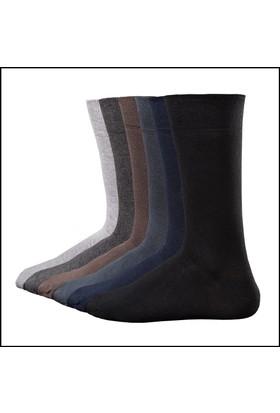 Faik Oktay Faik Oktay Erkek Bambu Exclusive Çorap 6'Lı Paket (İşçilikli)