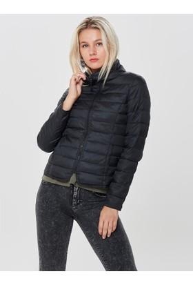 Only Short Quilted Siyah Kadın Ceket 15161738