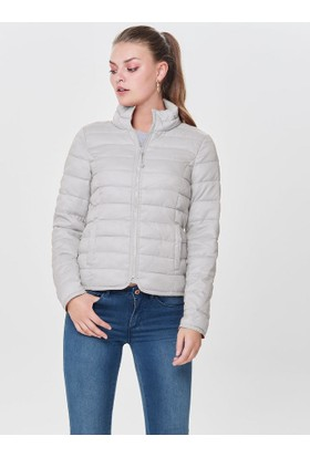 Only Short Quilted Açık Gri Kadın Ceket 15161738