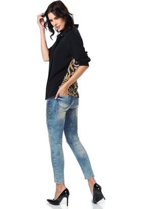 Sibel Kuşçu Tasarım Evi Sibel Kuşçu Kadın Gold Payetli Bluz