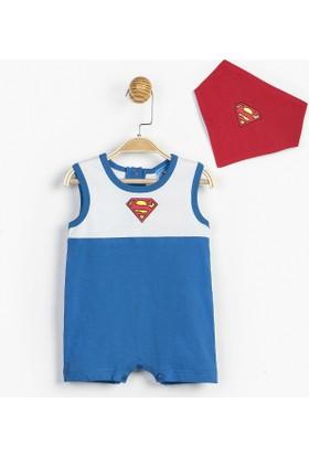Superman Bebek Tulum+Önlük 12841