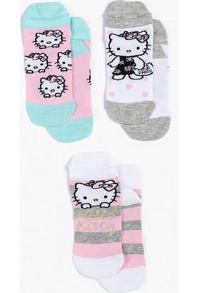 Hello Kitty 3'lü Çocuk Çorap 13008