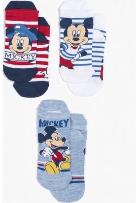 Disney Mickey Mouse 3'lü Çocuk Çorap 12956