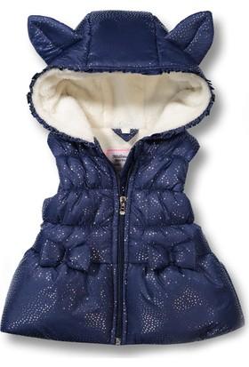 Midimod Kız Bebek Şişme Yelek Kapşonlu M18821